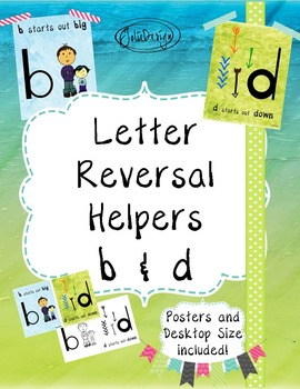 Letter Reversal Anchor Charts - Poster and Desktop Sizes