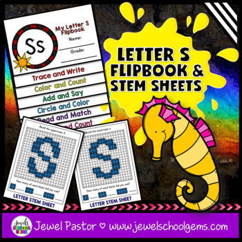 Letter S Alphabet Interactive Notebook Activities Flipbook