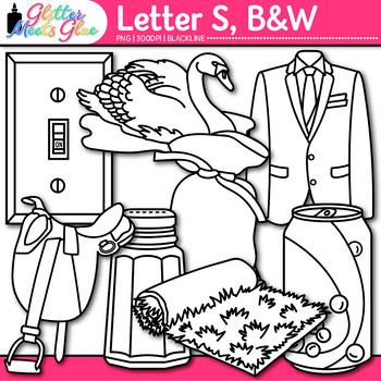 Letter S Alphabet Clip Art {Teach Phonics, Recognition, an