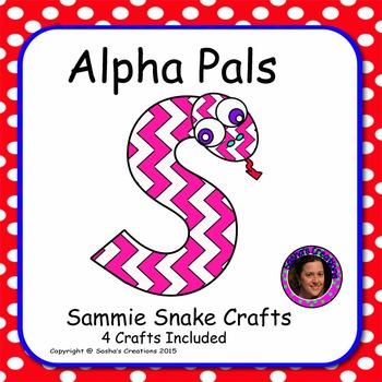 Letter S Alphabet Craft: Sammie Snake  Alpha Pal
