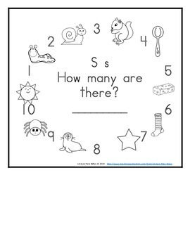 Letter S Counting Books