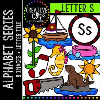 Letter S {Creative Clips Digital Clipart}