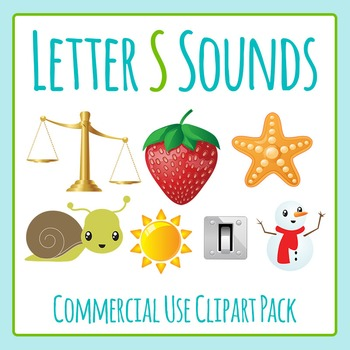 Letter S Sounds Clip Art Pack for Commercial Uses