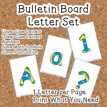 Printable display bulletin letters numbers and more: Brazil Flag