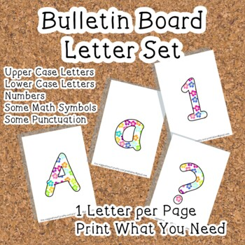 Printable display bulletin letters numbers and more: Tropi