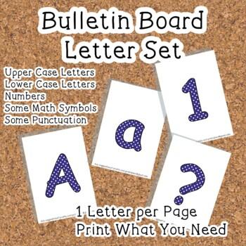 Printable display bulletin letters numbers and more: Dark