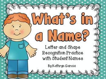 Learning Names of Friends with Letters and Shapes