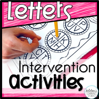 Reading Letters Intervention Binder