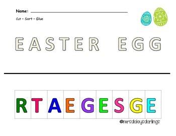 Letter Sorting - Easter