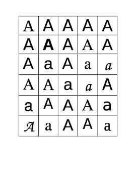 Letter Sorting with different fonts