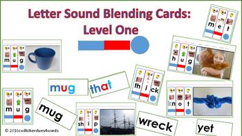 Letter Sound Blending Cards Level One