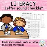 Letter Sound Checklist Pack