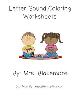 Letter Sound Coloring Worksheets