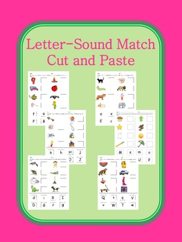 Letter Sound Match Cut and Paste