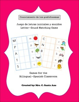 Letter-Sound Matching Bilingual Classroom