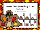 Letter Sound Matching Game Turkeys