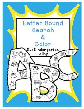Letter Sound Search & Color
