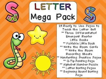 Letter Ss Mega Pack- Kindergarten Alphabet- Handwriting, L
