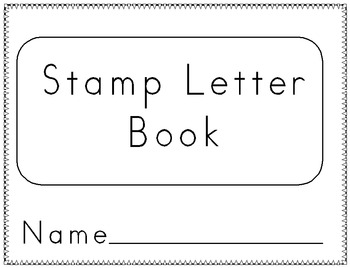 Letter Stamp Book