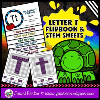 Letter T Alphabet Interactive Notebook Activities Flipbook