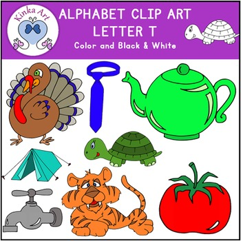 Letter T Clip Art {Beginning Sounds} Alphabet