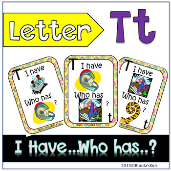 "Letter T ""I have... Who has?"""