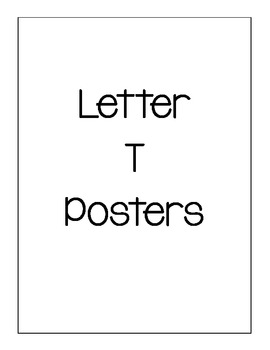 Letter T Posters
