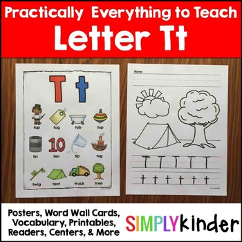Letter t | Alphabet Printables and Centers