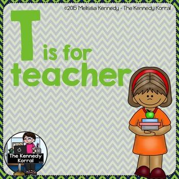 Letter T is for Teacher