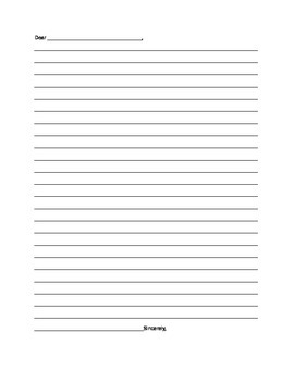 Letter Template Blank