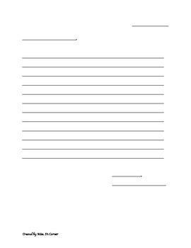 Letter Template / Frame