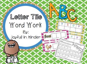 Letter Tile Word Work 1