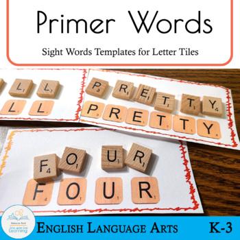 Letter Tiles Sight Words Primer Templates