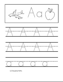 Alphabet Handwriting (Letters A-Z)