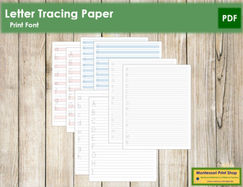 Letter Tracing Paper (Print)