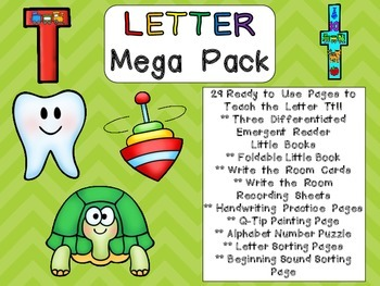 Letter Tt Mega Pack- Kindergarten Alphabet- Handwriting, L