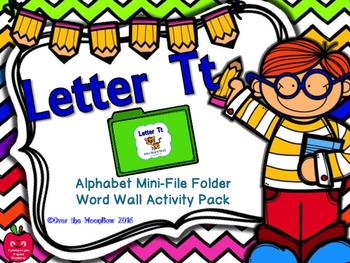 Letter Tt Mini-File Folder Word Wall Activity Pack