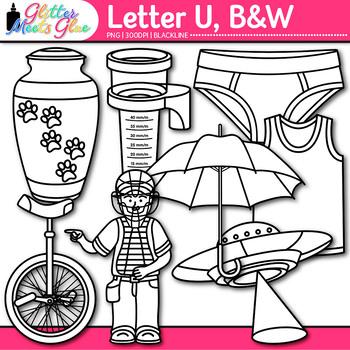 Letter U Alphabet Clip Art Line Art- Letter Recognition, I