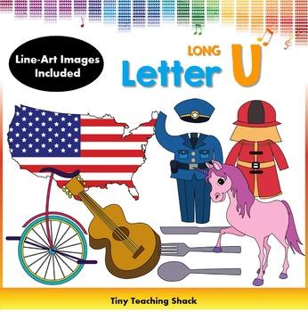 Letter U Clip Art (Long U)