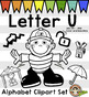 Letter U Clip Art - Phonics Clipart Set/Beginning Sounds