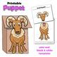Letter U Craft - Paper Bag Puppet Urial