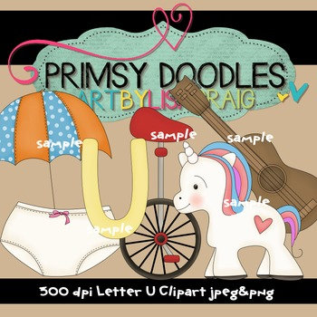 Letter U Early Learning Clipart