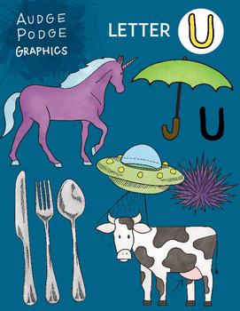 Letter U Graphics