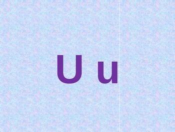 Letter U PowerPoint
