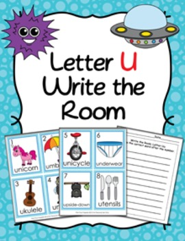 Letter U Words Write the Room Activity