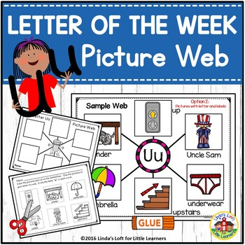 Letter Uu Beginning Sound Picture Web Activity
