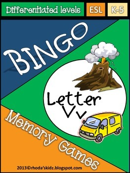 Letter V Bingo