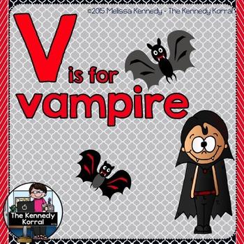 Letter V is of Vampire {Halloween}