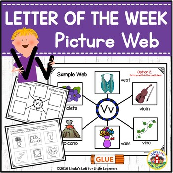Letter Vv Beginning Sound Picture Web Activity