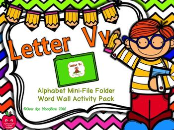 Letter Vv Mini-File Folder Word Wall Activity Pack